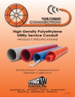 Flying-W-High-Density-Polyethylene-Utility-Service-Conduit-Catalog